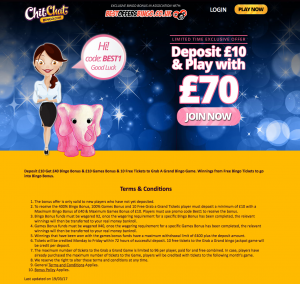 New Exclusive Best Offers Bingo Welcome Bonus With ChitChat Bingo